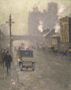 Adolphe Valette - Oxford Road, Manchester - 1910 - Manchester City Galleries