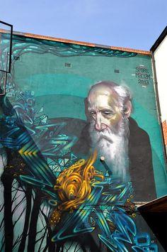 Street art on Bricklane, East London