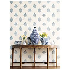 DIY to Try: Stencil as Wallpaper