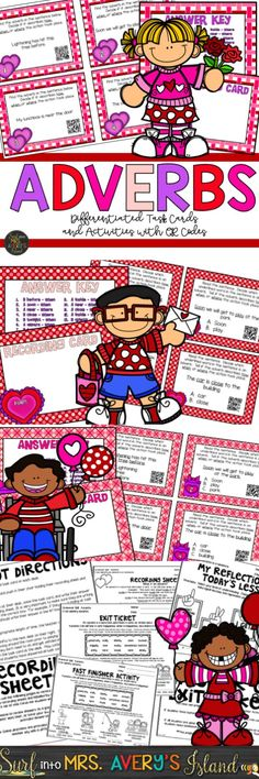 Adverbs no longer have to be a tricky part of speech to teach with these engaging and differentiated task cards and activities.  Discover the ease of integrating grammar and technology into your ELA lesson plans.  Your elementary students will fall in LOVE with these fun ideas and printables!  Click the link to see what other teachers have to say!