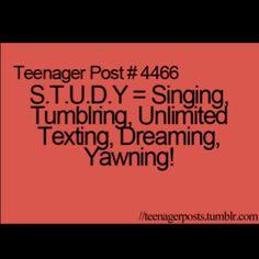 I love to study!