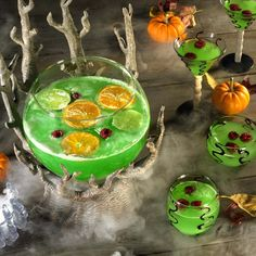 Colorful Halloween punch
