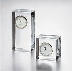Glass clock http://www.houzz.com/photos/305404/Glass-Desk-Clock-modern-desk-and-mantel-clocks