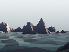 Dribbble - Low Poly Landscape by Camille Hein