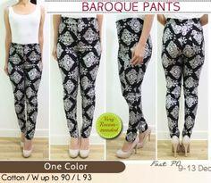 M-Baroque Pants @68, 3@65, bahan cotton stretch, fit S-L