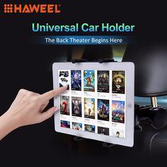 HAWEEL Universal Black Car Headrest Tablet Mount Holder for iPad Air  iPad 4  iPad mini Samsung Galaxy Tab 7-11 inch Tablet PC //Price: $11.70//     #shopping