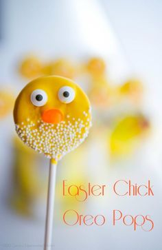 These Easter Oreo Chick Pops are adorable and would make a fun place setting on your Easter table. The kids really love them too!