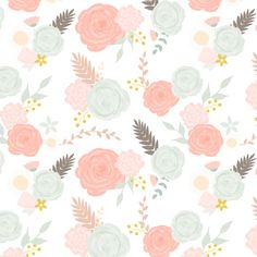 Summer blooms on white by >>mintpeony<<