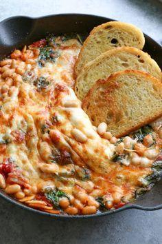 Baked Tomato Recipes, Veggie Recipes, Vegetarian Recipes, Cooking Recipes, Vegetarian Dinners, White Bean Dip, White Beans, White Bean Recipes, Cooking Equipment