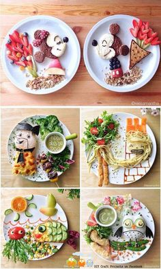 Food art - amazing snacks for kids Toddler Meals, Kids Meals, Cute Food, Good Food, Butterfly Snacks, Food Art For Kids, Children Food, Food Kids, Art Children