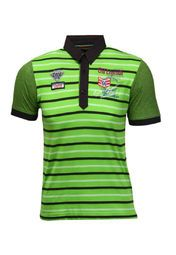 Green coloured polo T-shirt for boys from the house of Duke. Made of polycotton, this regular-fit T-shirt features short sleeves.