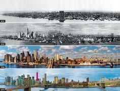 Incredible Transformations Of Cities: NYC 1876 -2013