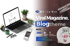 Jasmin - A Viral Magazine Blog Theme by mexelina on @creativemarket