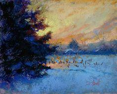 GATHERING LIGHT by Donna Shortt Pastel ~ 8 x 10