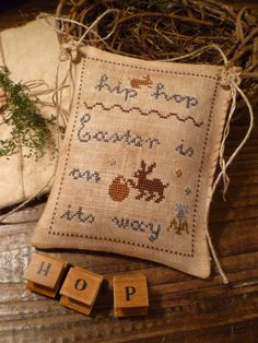 Easter Primitive Cross Stitch EPattern PDF EASTER by nathaliepoppy