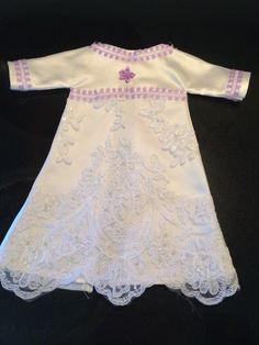 This was my sister Sherry's first lavender Angel Gown. I think it's beautiful ! She has been my instructor through this whole project .