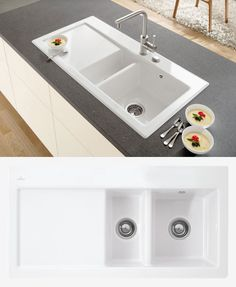 Lamona Ceramic 1.5 Bowl Sink | Ceramic Kitchen Sinks | Howdens ...