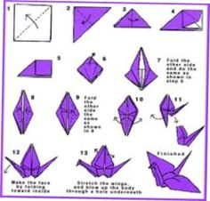 Origami Gum Wrapper Bird