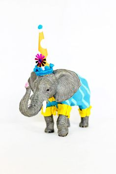 Party Animal Henry The Elephant painted carnival decorations, or cake topper by PaintedParade, $20.00