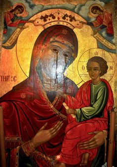 Weeping Icon of the Most Holy Theotokos Milan, Italy