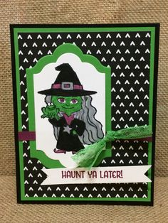 Stampin up haunt ya later stamp set.