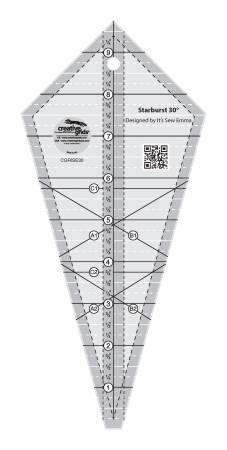 Creative Grids 22.5 Degree 18.5 Triangle Quilting Ruler Template CGREU3