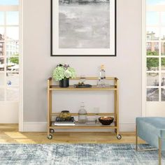 Dining Room Storage, Dining Room Furniture, Home Furniture, Traditional Bar Carts, Black Bar Cart, App Home, Kitchen Buffet, Bar Cart Styling, Open Concept Kitchen