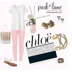 Chloe, created by parklanejewelry on Polyvore    Park Lane Jewelry featured: Chloe necklace, A La Mode bracelet & Ring, Desiree earrings & Vintage ring