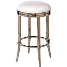 Hoffman Backless Swivel Barstool - Polished Finish  found at @JCPenney