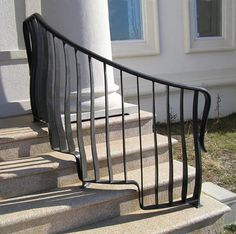 1000 images about iron front porch railings on pinterest railings iron railings and wrought iron for Curved metal railings exterior