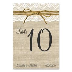 >>>Smart Deals for          Ivory Lace & Rustic Twine Bow Burlap Table Numbers Table Card           Ivory Lace & Rustic Twine Bow Burlap Table Numbers Table Card We have the best promotion for you and if you are interested in the related item or need more information reviews from the x...Cleck Hot Deals >>> http://www.zazzle.com/ivory_lace_rustic_twine_bow_burlap_table_numbers_table_card-256046807439567710?rf=238627982471231924&zbar=1&tc=terrest