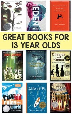Books for 13 Year Olds Boys and Girls Easy Peasy and Fun is part of Books for teen boys - A selection of great books for 13 year olds, boys and girls, with female and male protagonists and a variety of genres Fiction, nonfiction, adventure Books For Tweens, Books For Boys, Ya Books, Great Books, Childrens Books, Books To Read, Book Suggestions, Book Recommendations, Middle School Books