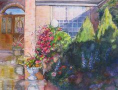 Original watercolor flower landscape painting by JaniceTraneJones, $99.00