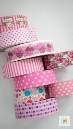 Kağıt Bant, Washi Tape - Pembeler