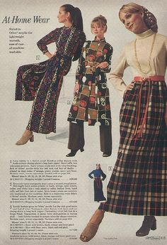 1971 Sears Catalog. At Home Wear....my at home wear doesn't look like this anymore. T shirt, sweats, big socks. That's my at home wear.