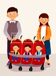PAI131, 프리진, 일러스트, 가족, 생활, PAI131, 에프지아이, 페인터, 웹소스, 웹활용소스, 웹, 소스, 활용, 일러스트, 단체, 프리진, 일러스트레이션, 사람, 남자, 여자, 중년, 엄마, 아빠, 어머니, 아버지, 부모님, 아기, 남매, 가정, 서있는, 행복, 미소, 유모차, 쌍둥이, 세쌍둥이, 다둥이, illust, illustration #유토이미지 #프리진 #utoimage #freegine 20140318