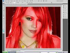 Tutorial como cambiar color de pelo photoshop cs4 en español