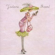J'adore Shoes Card £2.75.   #beautyjobs #cosmeticrecruitment   www.arthuredward.co.uk