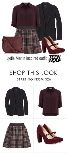 """Lydia Martin inspired outfit/Teen Wolf"" by tvdsarahmichele ❤ liked on Polyvore featuring Talula, Dorothy Perkins, ONLY, Sole Society and Jigsaw"