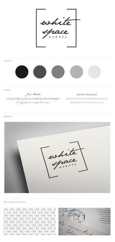 White Space Events branding, via Behance #logo #creative #events