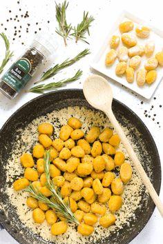 Gluten-free Pumpkin Gnocchi in Rosemary Browned Butter Sauce