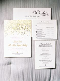 metallic confetti invite | Trent Bailey #wedding