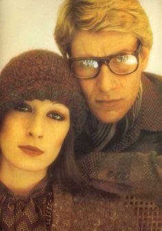 Anjelica Huston and Yves Saint Laurent