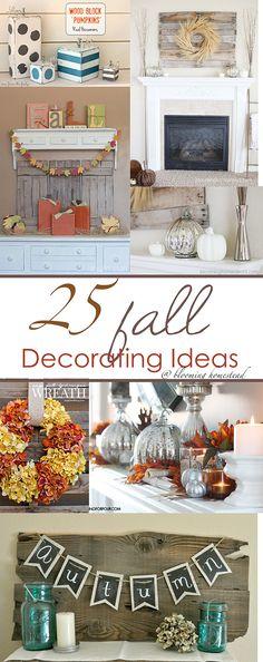 25 Fabulous Fall Decorating Ideas #falldecor #fall