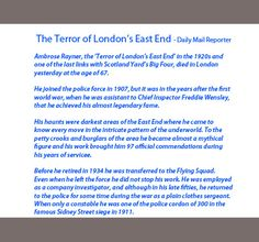 Ambrose Rayner - The Terror of London's East End!