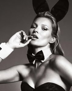 Kate Moss photographed by Mert + Marcus for Playboy, January 2014.