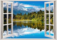 "Trees Nature Lake View 3D Removable Vinyl Wall Sticker Mural Decal Home Window Large 33.5"" x 47"" Bomba-Deal http://www.amazon.com/dp/B00O907MK8/ref=cm_sw_r_pi_dp_96hnub0441G74"