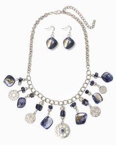 charming charlie | Boho Gardens Statement Necklace Set | UPC: 410006639430 #charmingcharlie