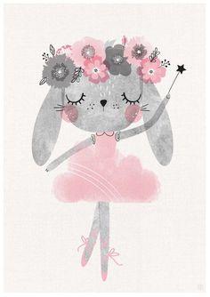 Set of 3 Baby bunny ballerina nursery art Girls Room Ballerina Room Nursery Wall Art Pink Wall Decor Dancing Bunny Art Pink Print Nursery Prints, Nursery Wall Art, Nursery Room, Ballerina Nursery, Baby Ballerina, Ballerina Kunst, Illustrator, Wallpaper Free, Dinosaur Nursery