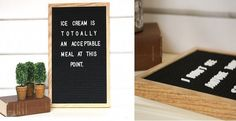 Felt letter board is the on trend home decor item this year!